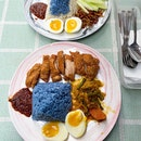 Blue Pea Rice Nasi Lemak