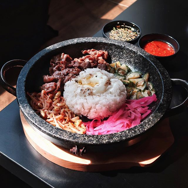 For an affordable amount of $10.90, you get to 'Design Your Own Bibimbap' at 8 Korean BBQ.