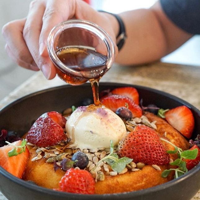 Berry Ricotta Hotcake, a must order item from @curiouspalette.