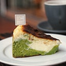 "Weekend spent with cuppa of coffee and @keongsaikbakery ""the two face"" burnt cheese cake."