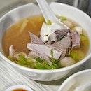 Comfort bowl of Pig organ soup, from Fu Qiang Pig Organ Soup at Marsiling Mall.
