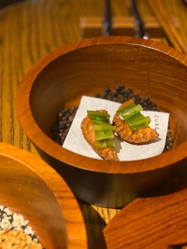 Close Up Of The Starter dumplings