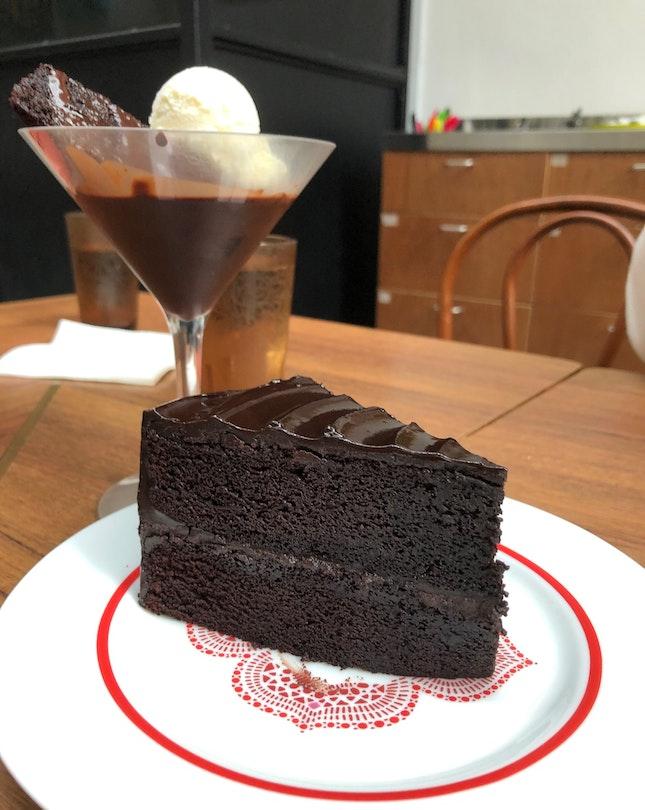 Buttermilk Dark Chocolate Cake
