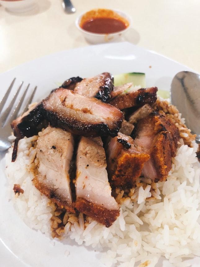 Charsiew Shaorou Rice ($5)