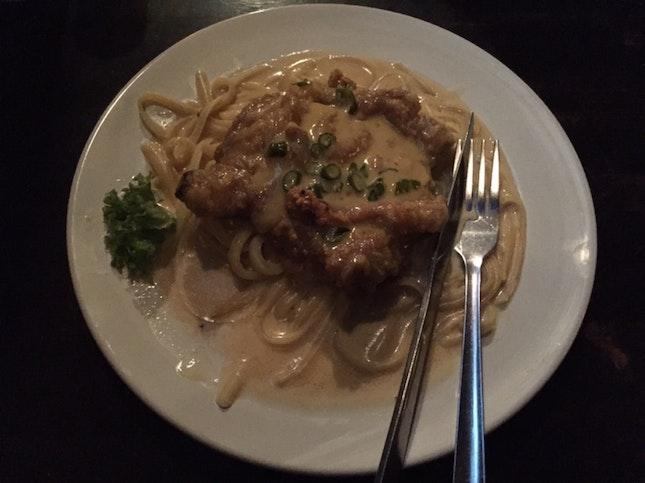 Buttermilk Chicken Chop Pasta