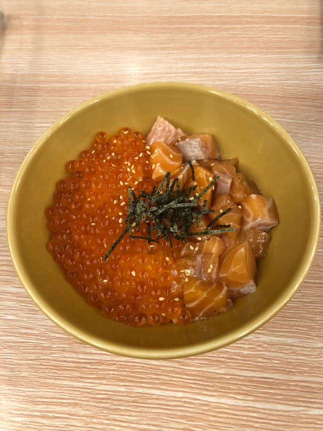 Salmon And Ikura Don ($25)