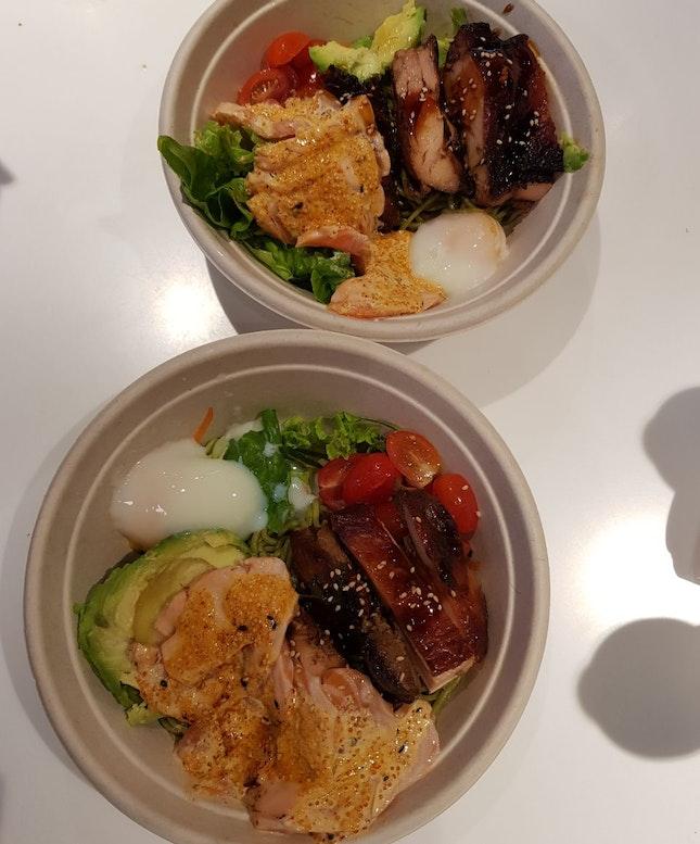 Mentaiko Salmon + Terriyaki Chicken Soba ($23.90 For 2bowls)
