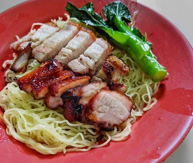 Spectacular noodles and meats.