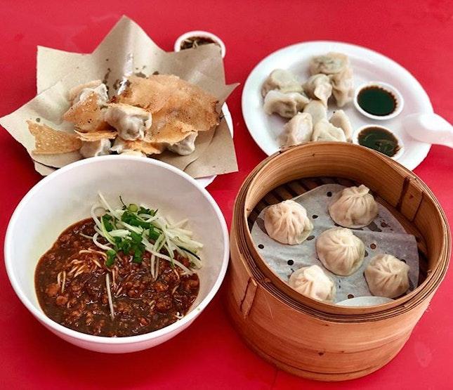 Xiao Long Bao($6 for 10pcs), Pan-fried Dumplings($6 For 10pcs), Dumplings ($5 For 10pcs) - Michelin Plate