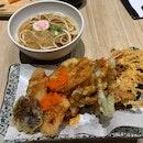 Mixed Tempura With Udon