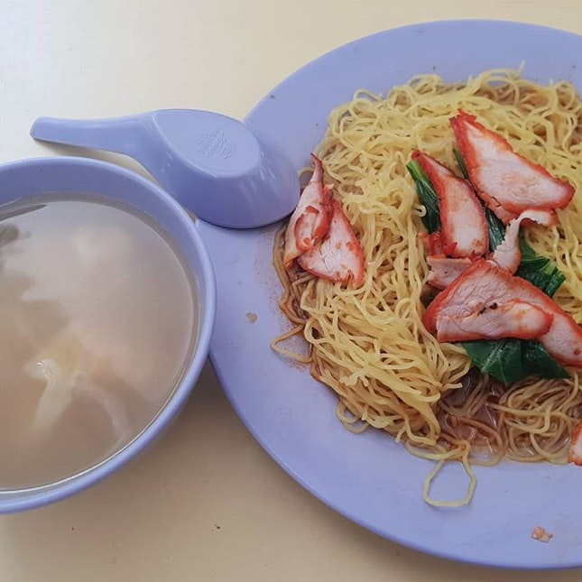 Wanton Mee ($3.50) 😐 @ Telok Blangah Food Centre.
