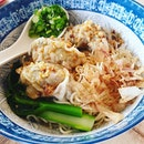 Sichuan Spicy Wanton Dry Noodles😊 ($8.90++) + Three Treasures Soup Noodles😊 ($14.90++) + Parmesan Crusted Pork Chop Soup Noodles😊 ($10.90++) There's bonito flakes in both the spicy wanton noodle and pork chop noodles.