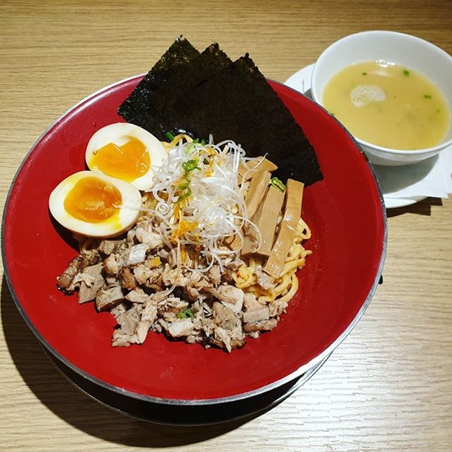 Mazesoba ($14++) 😍+ Shoyu Ramen ($15++)😊 + Tsukemen ($16++) 😍 in a nice ambience 😊 but have to queue quite long!