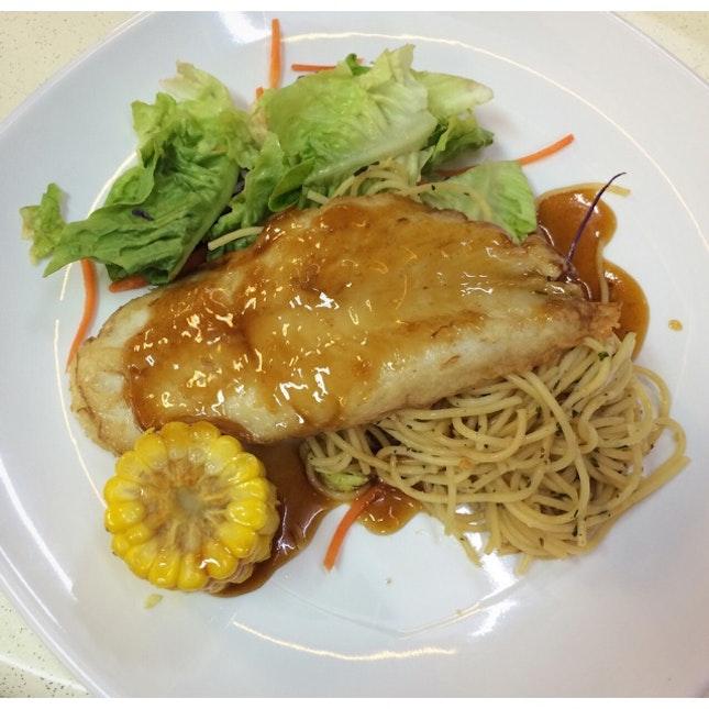 Grilled Fish W Teriyaki Sauce