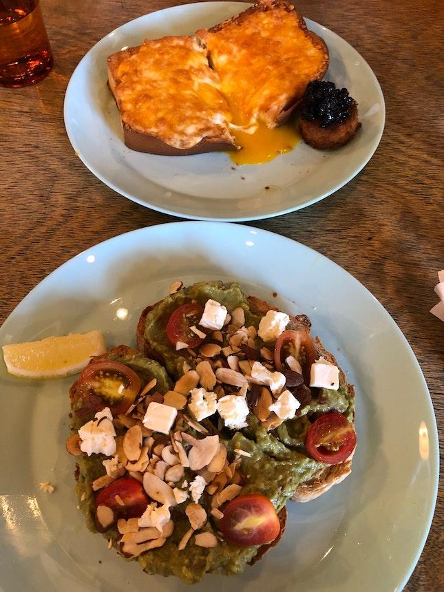 Gashouse egg & Avocodo toast on sourdough $13 each