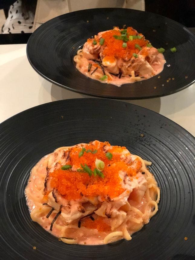Hot Salmon Mentai Pasta $22+