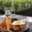 Chicken and Waffles $20++