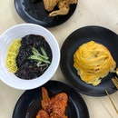 Jajangmyeon $7, Tornado Seafood Fried Rice $5, Soy Chicken $8, Sweet&Spicy Chicken $8