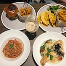 Classic Cheeseburger, Fish Tacos, Chili Crab Pasta, Miso Salmon Carbonara $25-$28 + each
