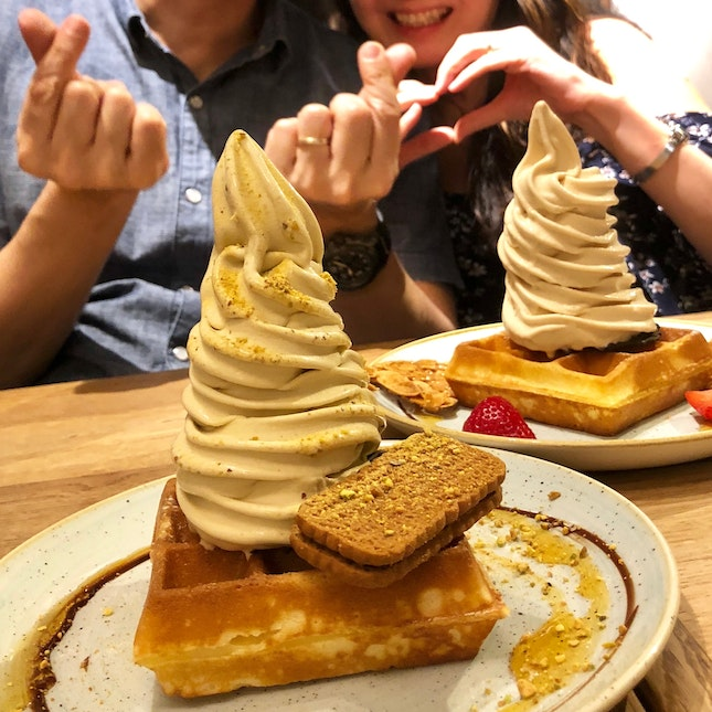 Waffles With Soft Serve