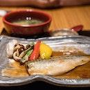 Saba Miso Teishoku | simmered mackerel in miso paste
