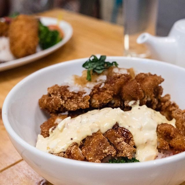 Twin-flavoured Crispy Chicken Don   chicken namban in tartar sauce & Japanese grated radish sauce