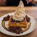 Roasted Pistachio Ice Cream Waffle
