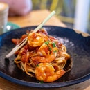 Tom Yum Prawn Pasta