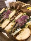 Steak & egg bagel sandwich