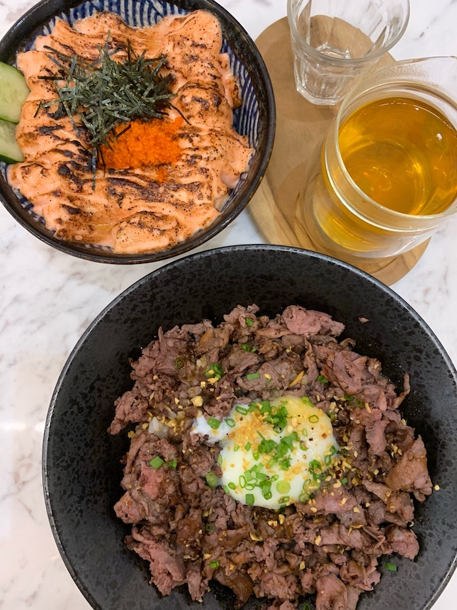 Truffle Wagyu Beef Don And Mentaiko Salmon Don