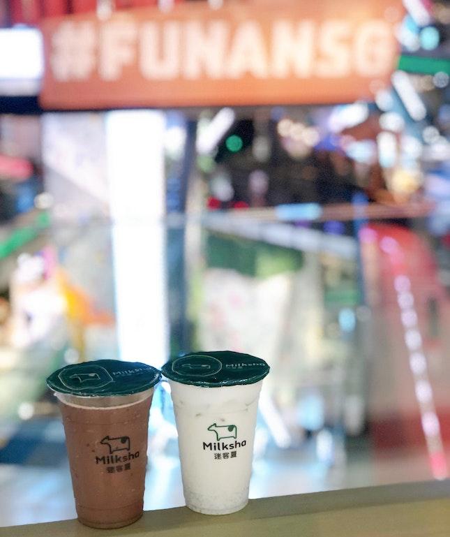 Taro Milkshake And Ice Blended Cocoa