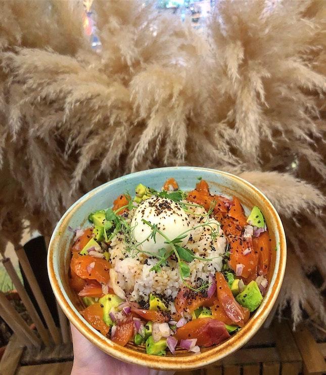Salmon And Avocado Rice Bowl ($13.50)