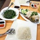 Sambal Kang Kong & Chicken Rice