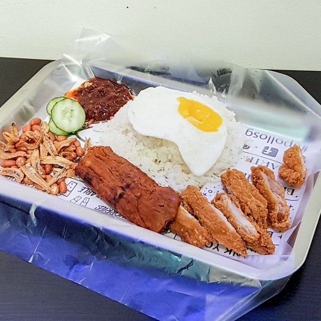 Chicken Cutlet Nasi Lemak