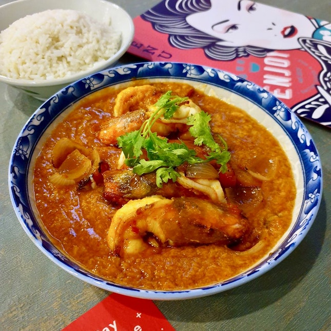 Singapore Style Chilli Prawns