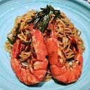 Scallion Dry Noodle with Prawn (Western Mahua)
