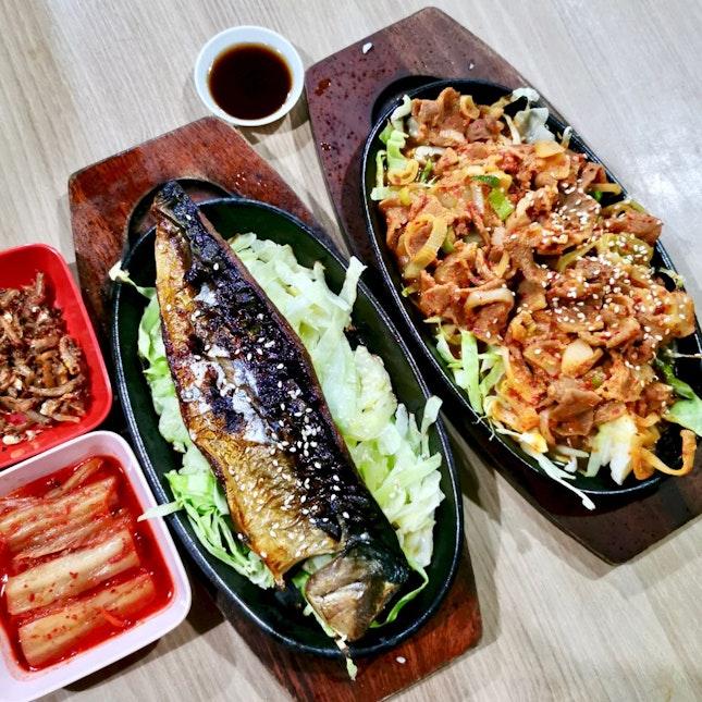 Fried Saba Fish /Spicy Pork