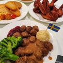 IKEA meatballs and chicken wings!