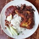Gorgeous plate of Nasi Lemak.