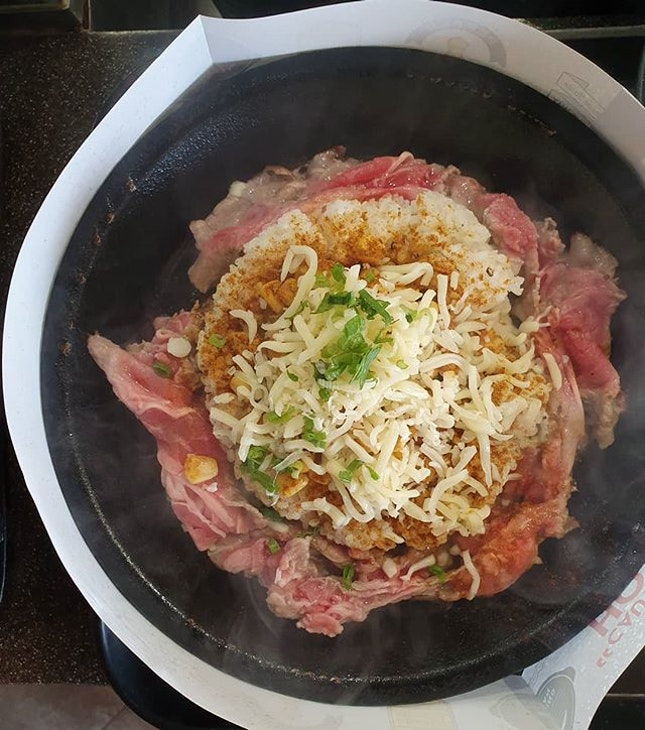 Pepper Lunch Double Meat with Curry & Cheese - (~$10.50 SGD)  One of my go-to's across Singapore's food courts - Pepper Lunch!