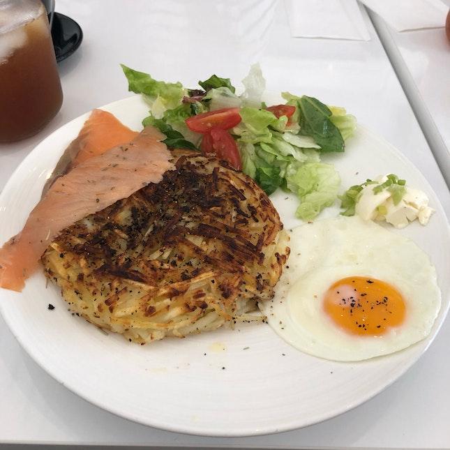 Salmon Swiss Rösti ($15.90)
