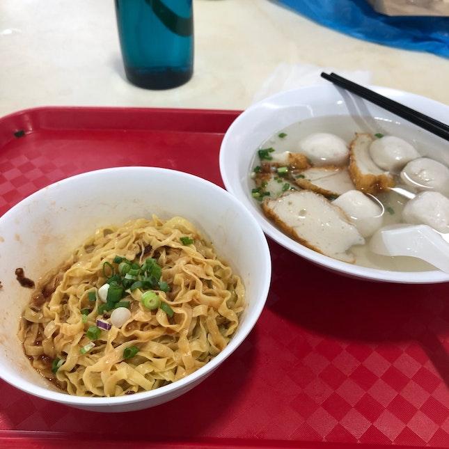 Fishball Noodles ($3/$4/$5)