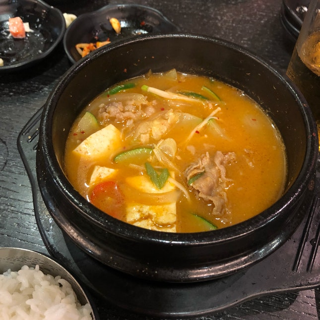 Soybean Stew with Beef ($12)