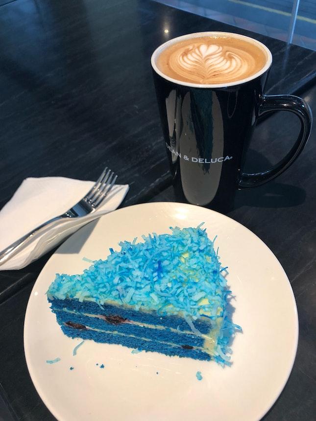 Blue Velvet And Marble Latte $13