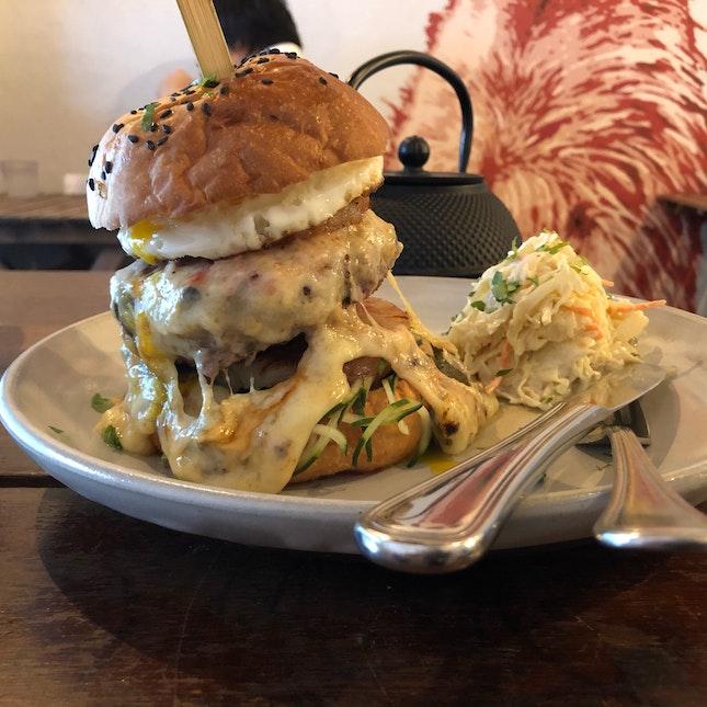 Badass Raclette Aussie Burger $26.50
