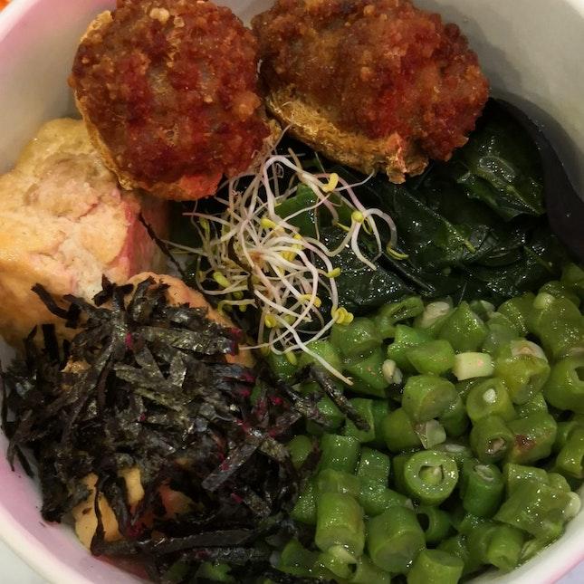 Hakka Toufu Bowl With Leicha Soup