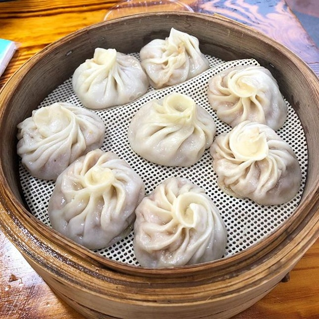 Might not be the prettiest XLB you have seen but this shows that it's handmade.