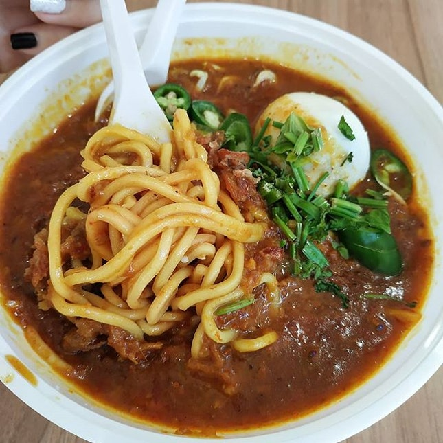 Craving satisfied with a hot bowl of mee rebus..
