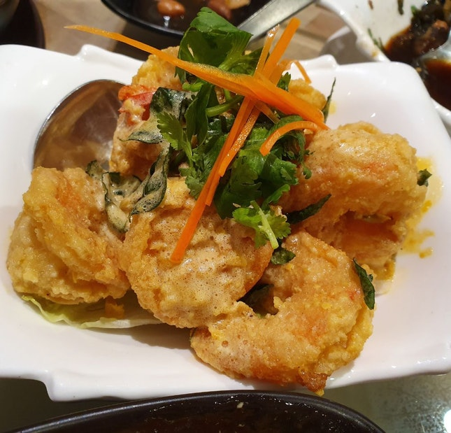 Salted Egg Yolk Prawns ($26 for Medium)