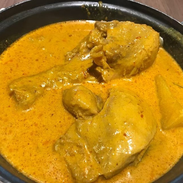 Curry chicken @foodjunctionsg @fuxiangsignatures The Chicken is yummy but portions too small for 2 while the larger ala carte option is too much for us 😬 .